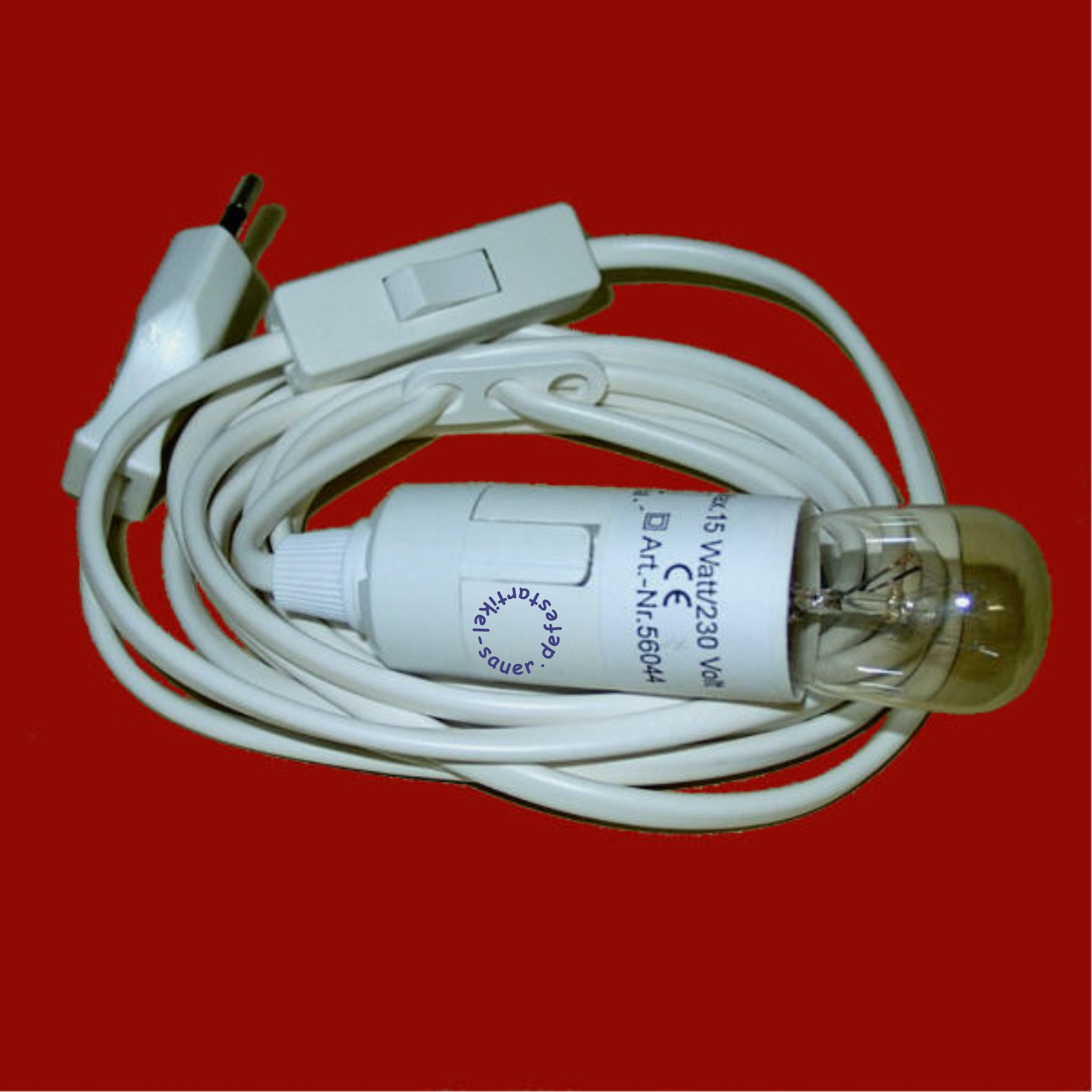 Beleuchtungsset Kabel 3m + Schalter+15W-Lampe+Stecker VE12 ...